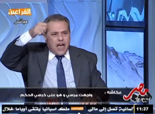 View Video .. Okasha: Mohammed Mursi told me: Day «Wednesday» there will be a major calamity